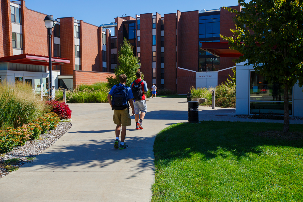 Scholte Hall is one of the many on-campus housing options available for Central students.