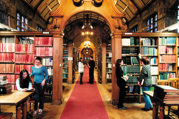 The library at Bangor University.